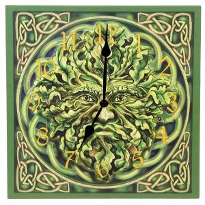 Hippy Clock~Pagan Hippy Green Man Picture Clock~Fair Trade by Puckator & Folio Gothic Hippy~CKP04